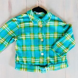 Vintage crop button down light sweater